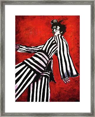 A Glance From The Catwalk Framed Print by Barbara Jean Lloyd