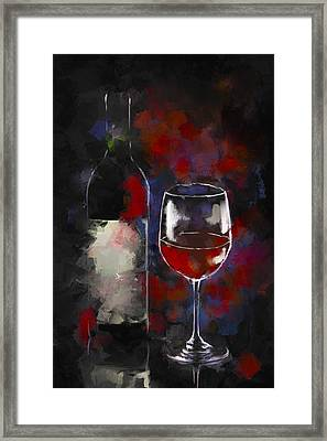 A Glass Of Red Framed Print by Peggy Kahan