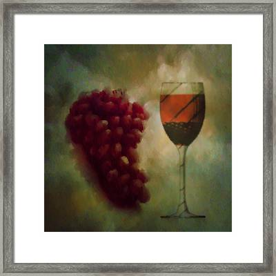 A Glass Of Red Wine Framed Print by Bill Cannon