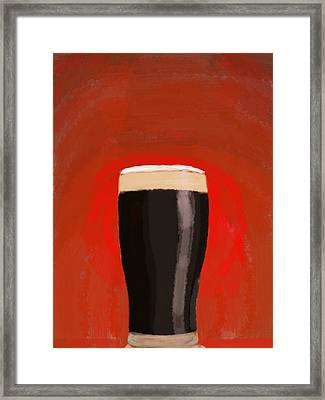 A Glass Of Stout Framed Print by Keshava Shukla