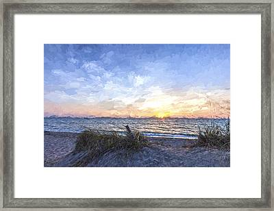 A Glass Of Sunrise II Framed Print