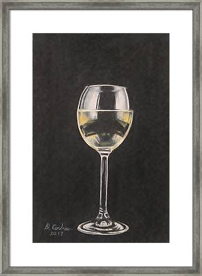 A Glass Of The House White Framed Print by David Cochran