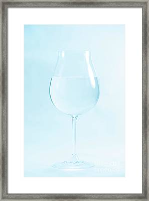 A Glass Of Water Framed Print