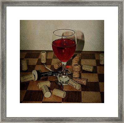 A Glass Of Wine Framed Print by Bill Cannon