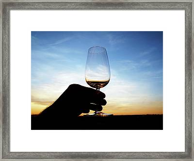 A Glass Of Wine Framed Print by Dutourdumonde Photography