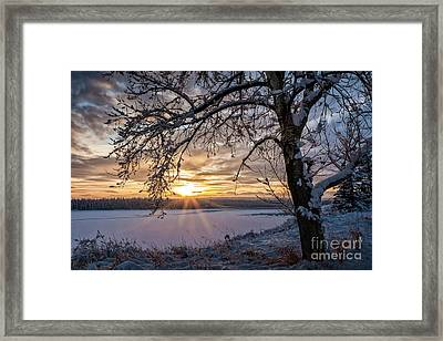 A Glenmore Sunset Framed Print