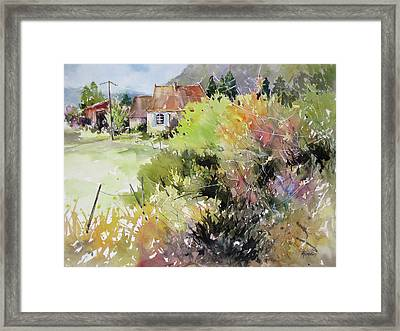A Glimpse Beyond The Brambles, France.. Framed Print by Rae Andrews