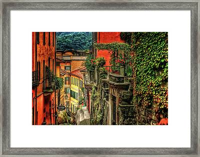 A Glimpse Of Bellagio Framed Print by Connie Handscomb