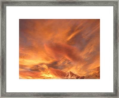 A Glorious Evening Sky Framed Print