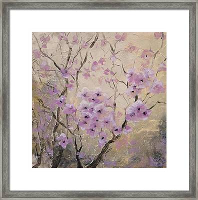 Framed Print featuring the painting A Glow by Laura Lee Zanghetti