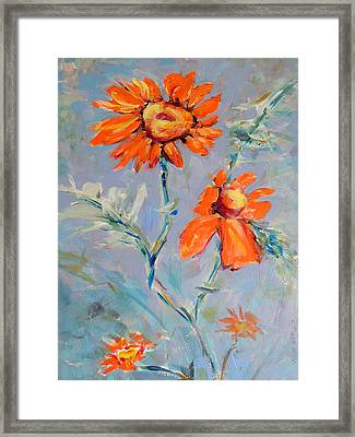 Framed Print featuring the painting A Glow by Mary Schiros