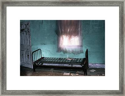 A Glow Where She Slept Framed Print