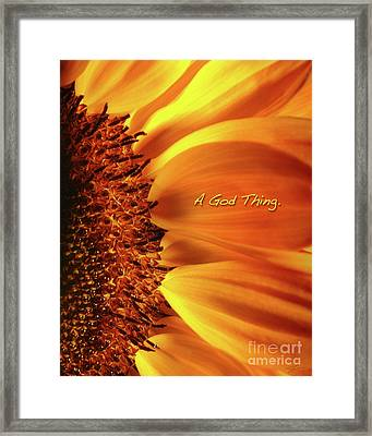 A God Thing-2 Framed Print by Shevon Johnson
