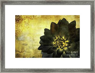 A Golden Heart Framed Print