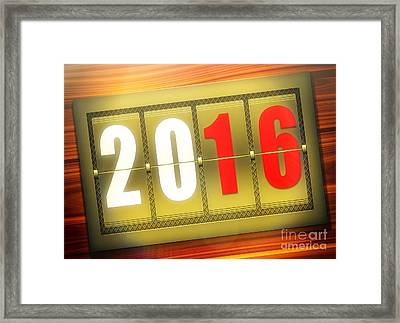 A Golden New Year 2016 Framed Print by Stefano Senise