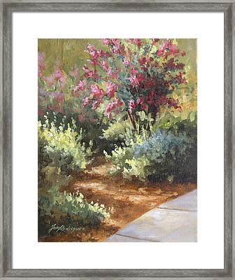 A Golden Walk Framed Print