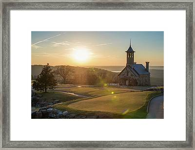 Framed Print featuring the photograph A Golfers Paradise - Top Of The Rock - Branson Missouri by Gregory Ballos