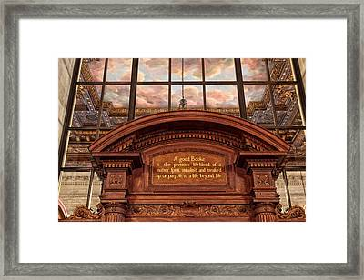 Framed Print featuring the photograph A Good Book by Jessica Jenney