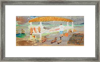 A Good Day Of Fishing On Wood Framed Print by Ken Figurski