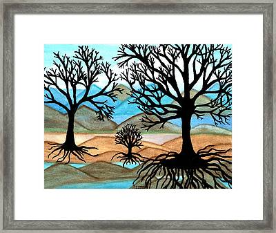 Framed Print featuring the painting A Good Foundation by Connie Valasco