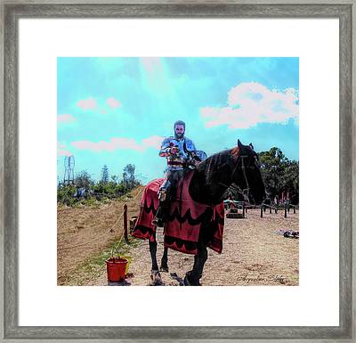 A Good Knight Framed Print