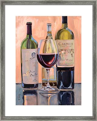 A Good Pair - Caymus And Opus Framed Print by Donna Tuten