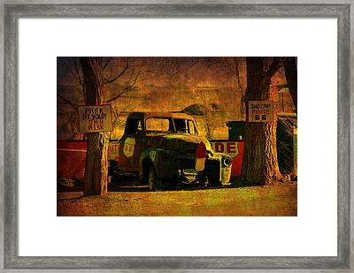 A Good Parking Spot Framed Print