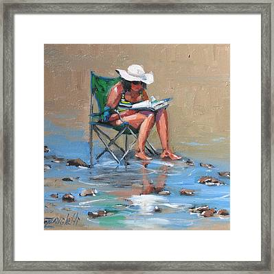 A Good Read Framed Print by Laura Lee Zanghetti