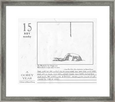 A Gorey Year Framed Print