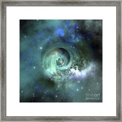 A Gorgeous Nebula In Outer Space Framed Print