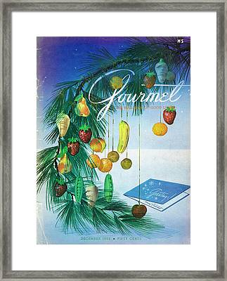 A Gourmet Cover Of Marzipan Fruit Framed Print by Henry Stahlhut