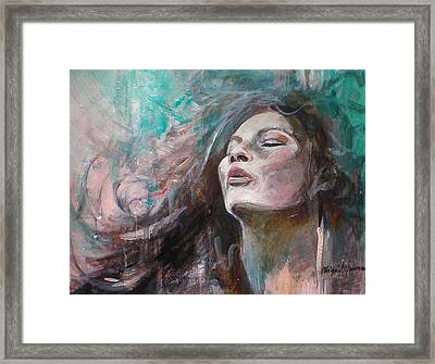 A Graceful Wind Framed Print by Abigail Newman