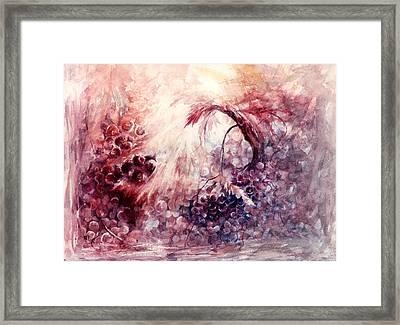 A Grape Fairy Tale Framed Print by Rachel Christine Nowicki