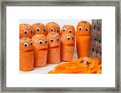 A Grate Carrot 2. Framed Print by Gary Gillette