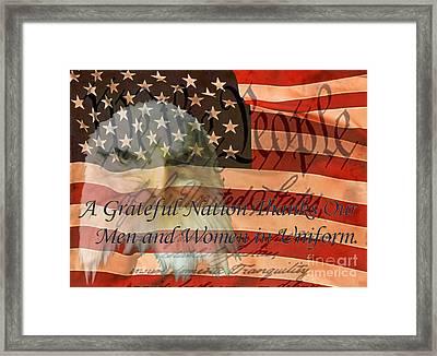 Framed Print featuring the photograph A Grateful Nation by Ken Frischkorn
