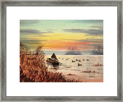 A Great Day For Duck Hunting Framed Print by Bill Holkham
