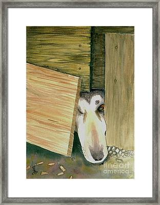 Framed Print featuring the painting A Great Escape  -variation 2 by Yoshiko Mishina