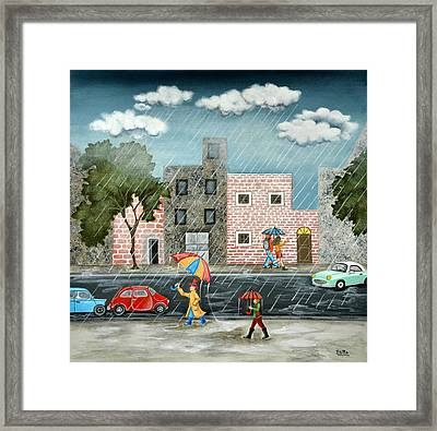 A Great Rainy Day Framed Print