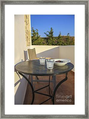A Greek Afternoon Framed Print by Patricia Hofmeester