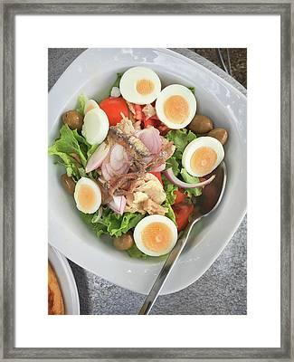 A Greek Salad Framed Print