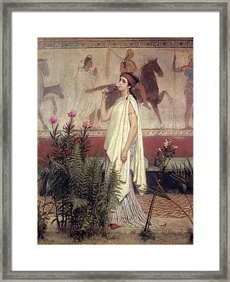 A Greek Woman Framed Print by Sir Lawrence Alma-Tadema