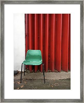 A Green Chair Framed Print by Tom Gowanlock