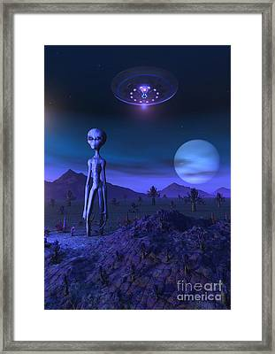 A Grey Alien Located On Its Homeworld Framed Print