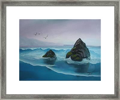 A Grey Day Framed Print by Tobi Czumak