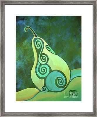 A Groovy Little Pear Framed Print