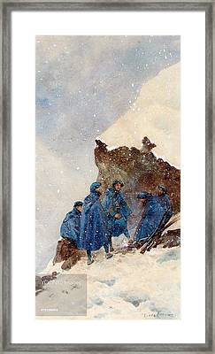 A Group Of First World War Chasseurs Framed Print by MotionAge Designs