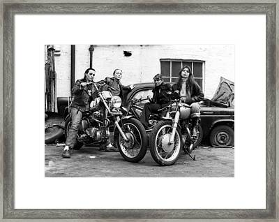 A Group Of Women Associated With The Hells Angels, 1973. Framed Print by Lawrence Christopher