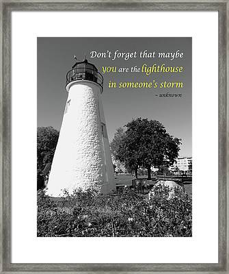 A Guiding Light Framed Print by Emmy Marie Vickers