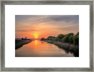 A Gulf Shores Sunset Framed Print by JC Findley
