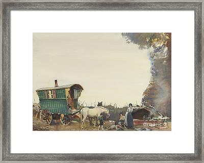 A Gypsy Encampment Framed Print by MotionAge Designs